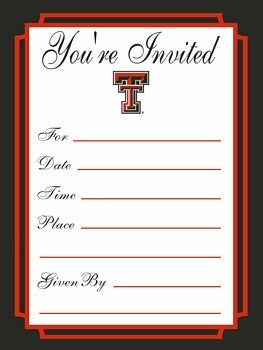 Office the matador texas tech formal invitations filmwisefo