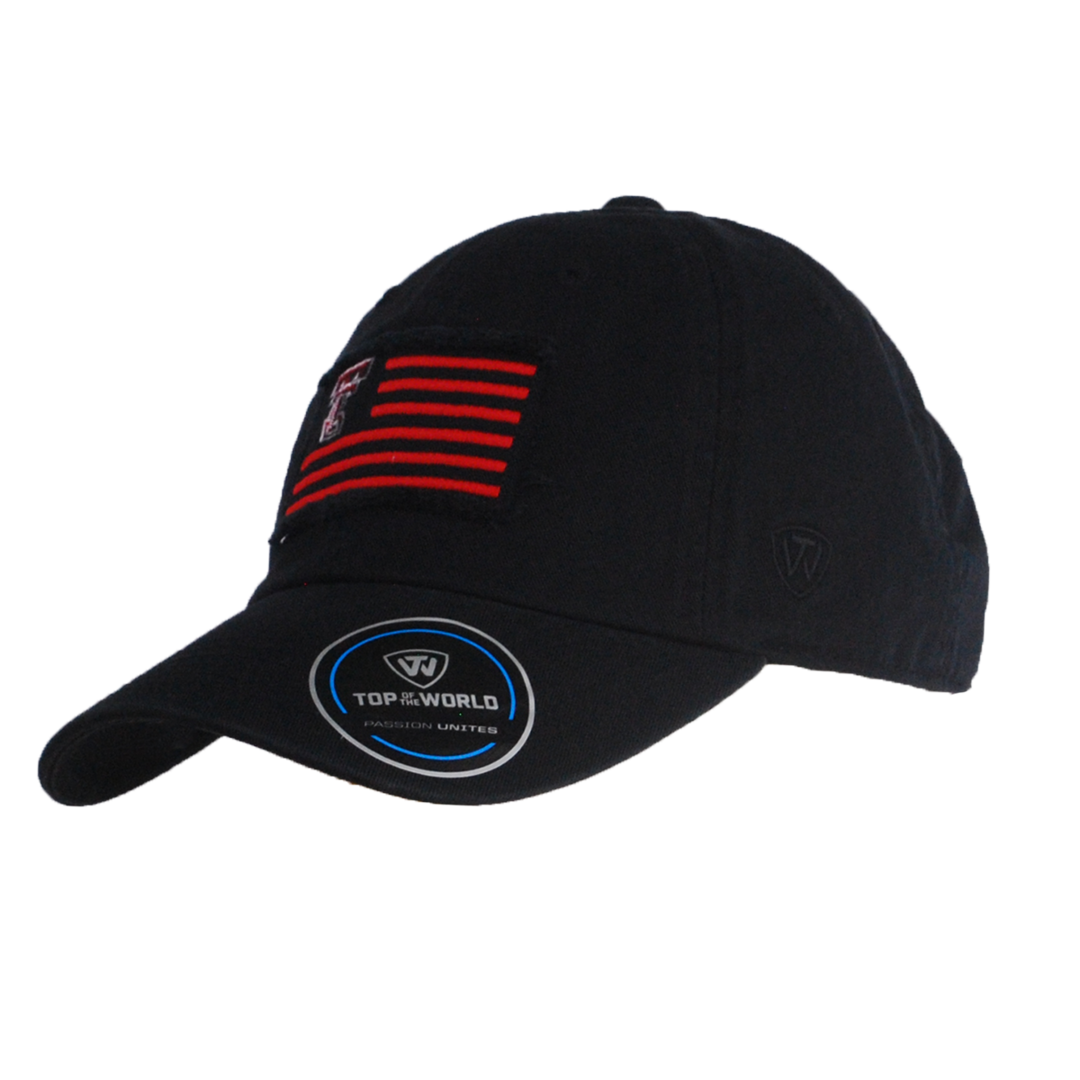 2212b5d375bb71 Top of the World Flag Washed Cotton Strapback Cap - The Matador
