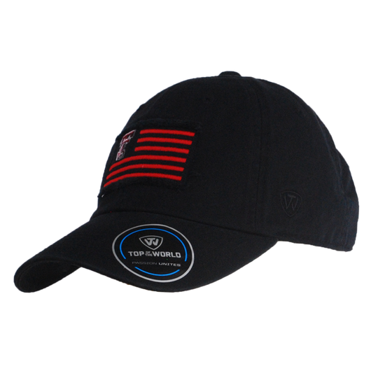 22b011f4abaa5f Top of the World Flag Washed Cotton Strapback Cap
