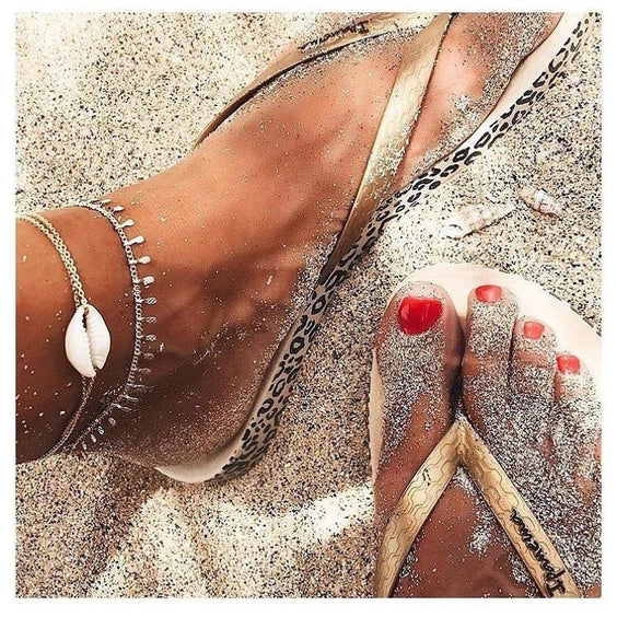 the ankle bracelet , the perfect summer jewelry