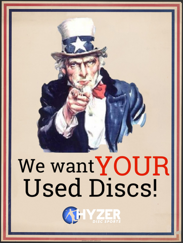 """Uncle same pointing to the user, 'We want YOUR used discs!"""""""