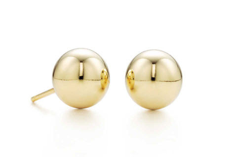 Small 18 Kt Gold Electroplated Bead Earrings