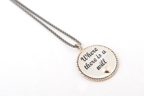 Motivational Coin Pendant
