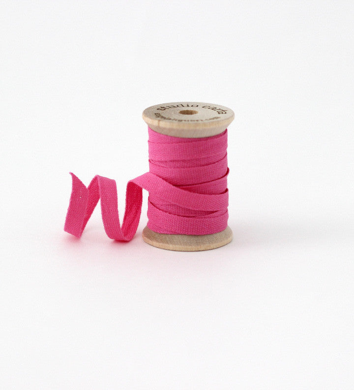 Wood spool of 5 yards cotton ribbons
