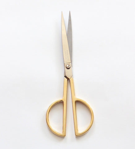 Paper Scissors with gold handle
