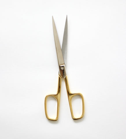 Office Scissors | gold handle