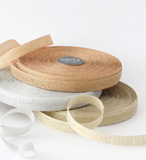 Metallic Loose weave cotton ribbon