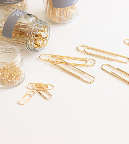 NEW - Gold Paper Clips