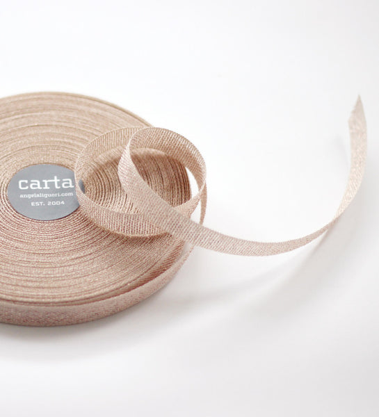 Metallic * Loose weave cotton ribbon