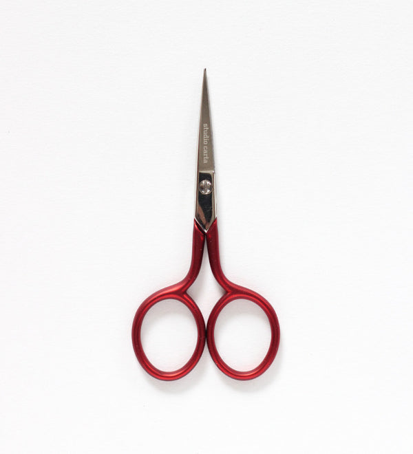 Scarlet red scissors