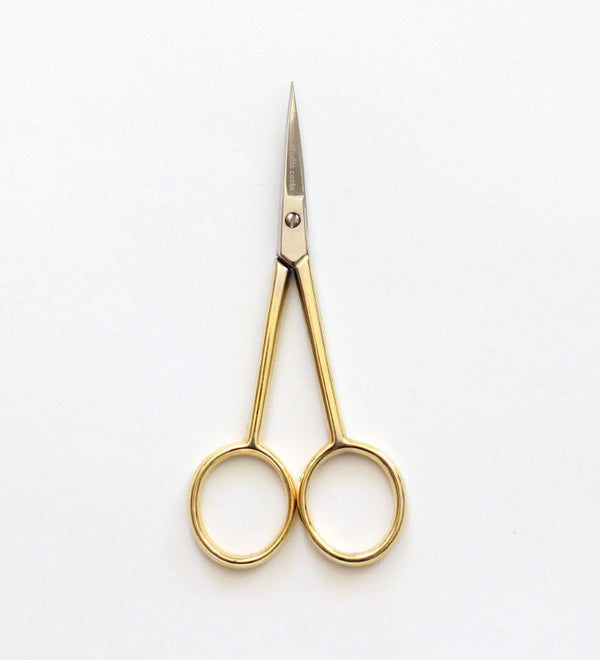 Silhouette scissors | gold handle