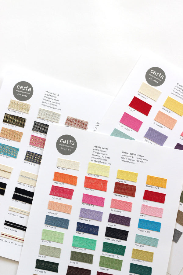 Ribbon swatch book