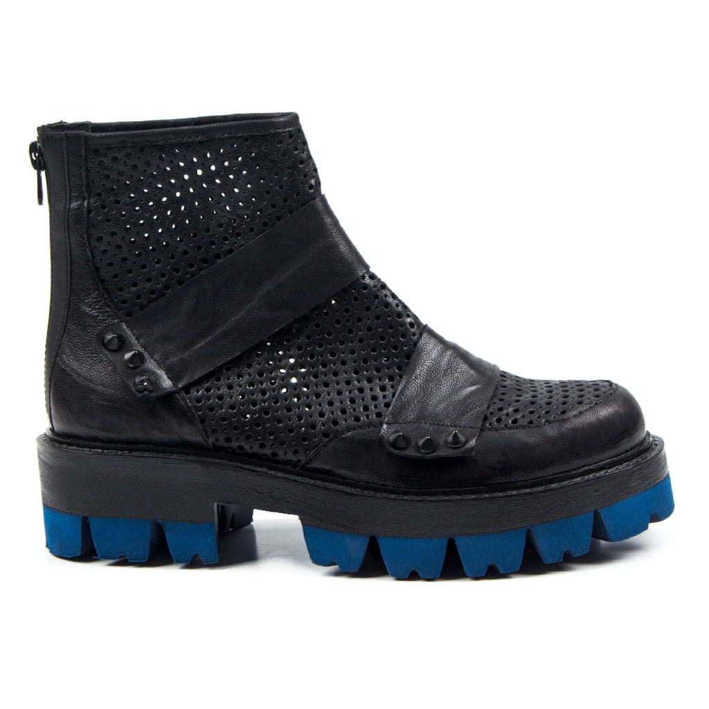 Aria- SG1026 Hole Punched Leather Summer Boots- Unisex