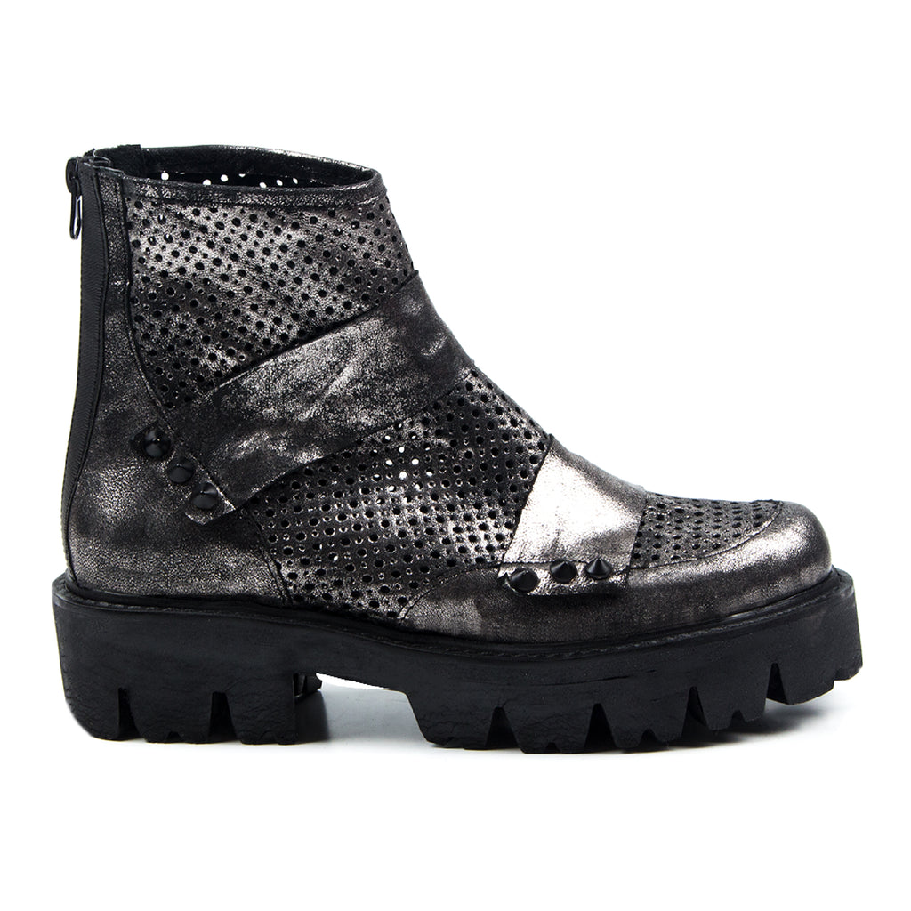 Gena- SG1025 Silver Coated Leather, Summer Boots- Unisex