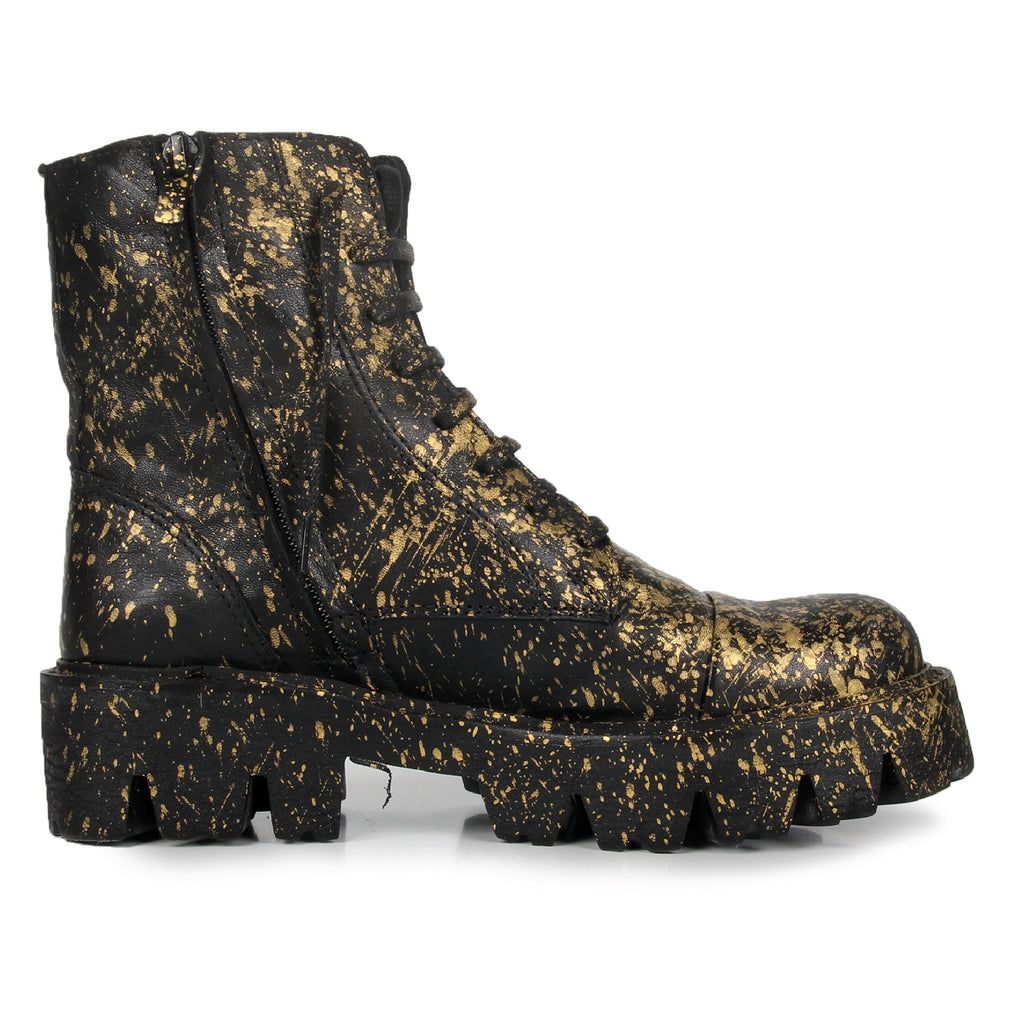 Point- SG1006 Splash Painted Leather Boots- Unisex