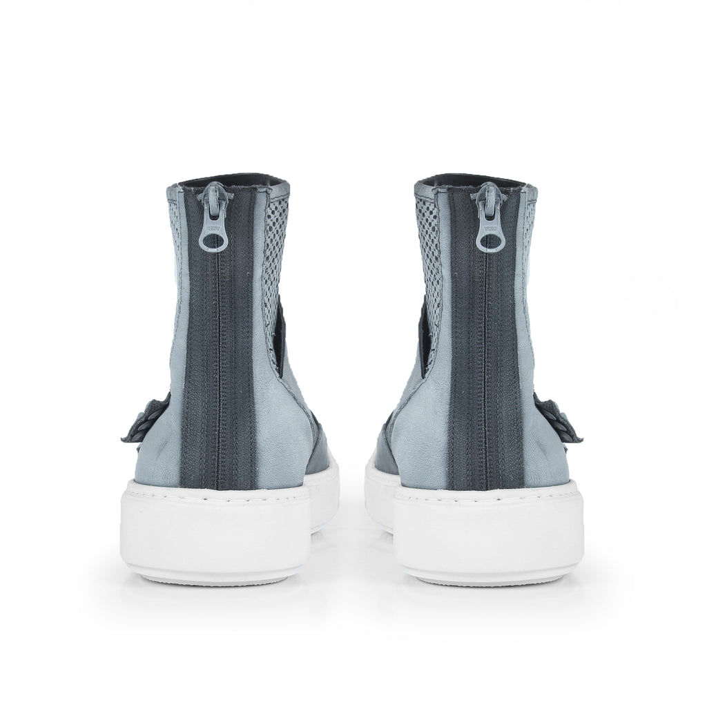 Ditsy- SG2012 Genunie Leather Handpainted Hole Punched Summer Boots- Unisex