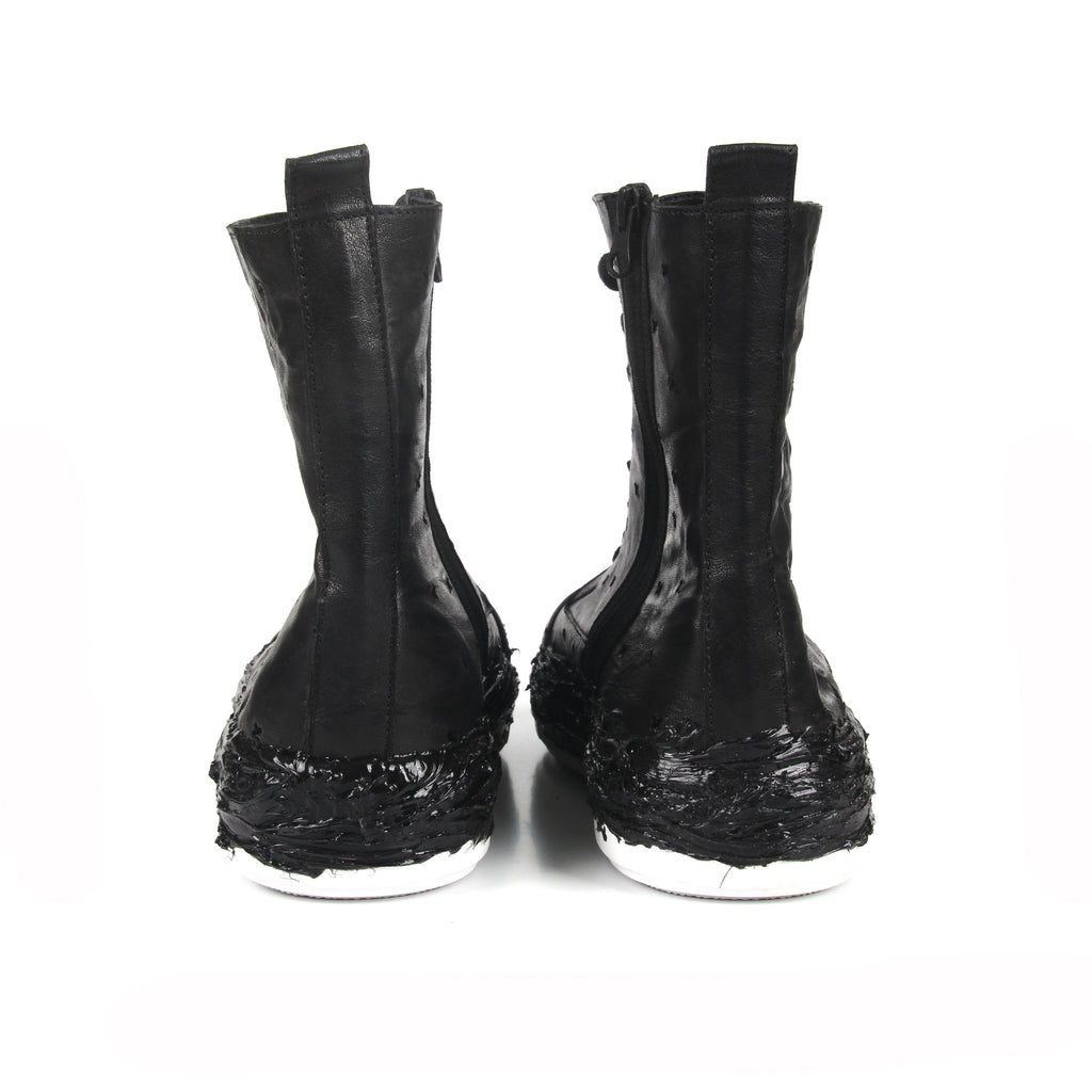 Toxic- SG4044 Genuine Leather Hole Punched Boots with Glue Detailed- Unisex