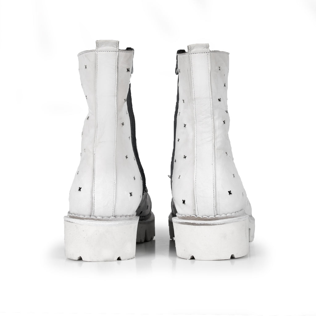 Wendy- SG2000 Genuine Leather White Summer Boots