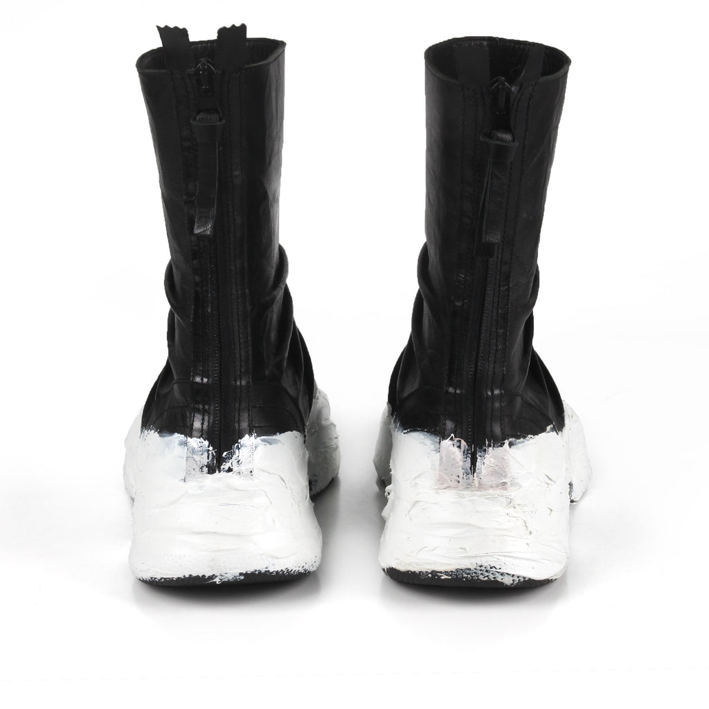 Night White- SG4067 White Glue Detailed Sneaker Boots