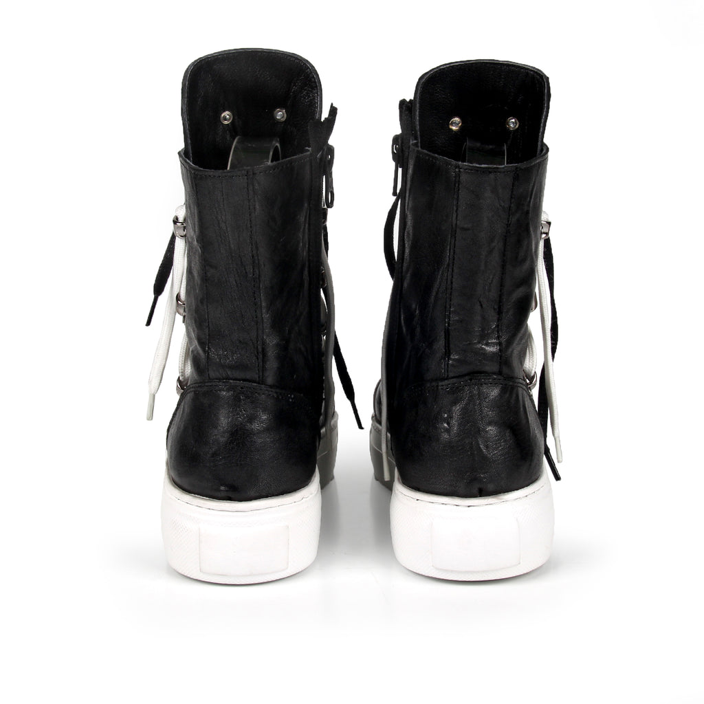 Benassi- SG3007  Genuine Leather Lace Up Boots