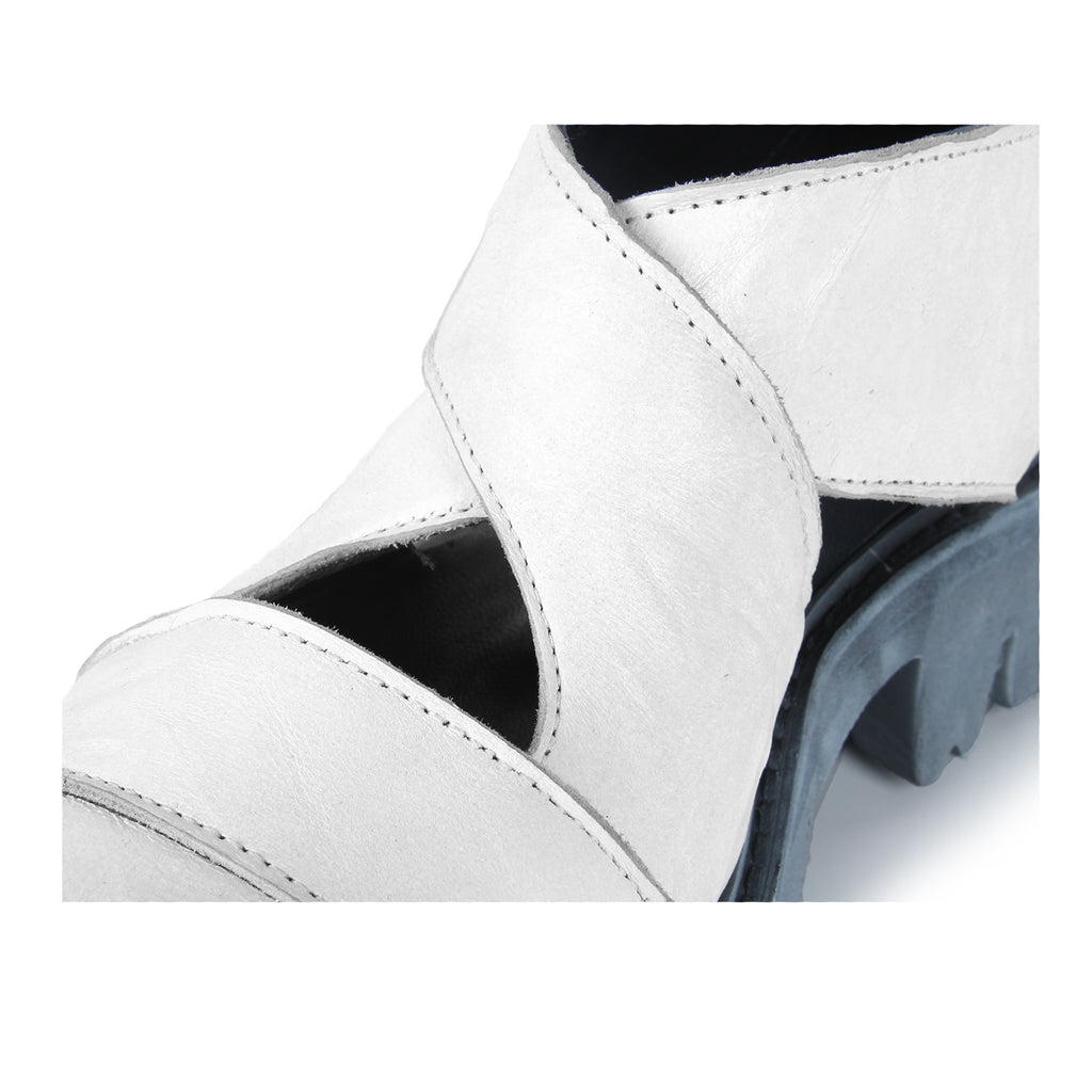 Wish- SG2023 Genuine Leather White Summer Boots- Unisex