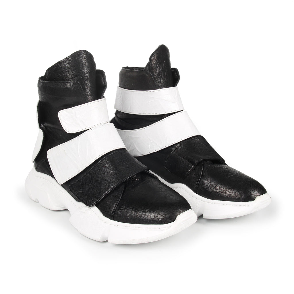 Riva- SG3002 Genuine Leather Sporty Sneaker Boots with Tape- Men