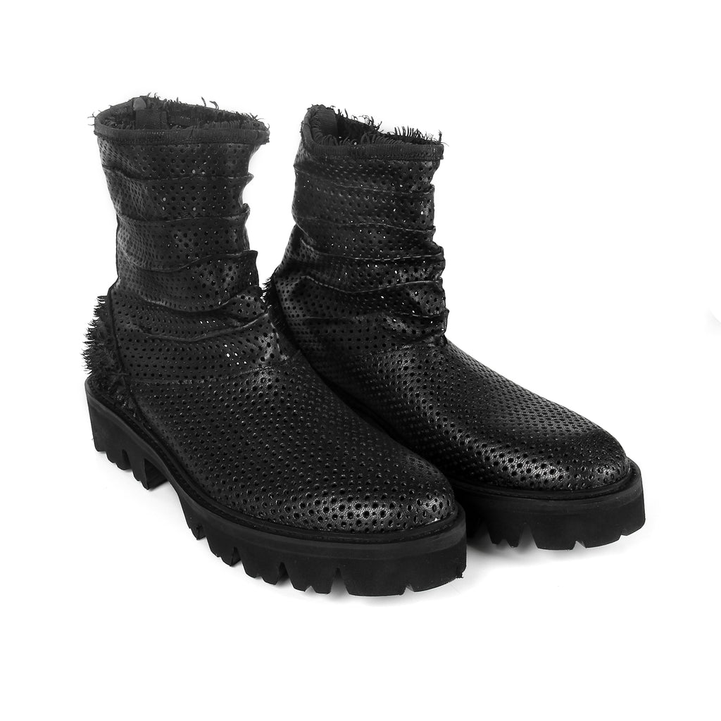 Jagger- SG2013 Genuine Leather  Smocked Boots