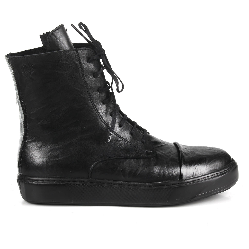 Marcia Silver- SG4063 Silver Stripe Painted Sneaker Boots