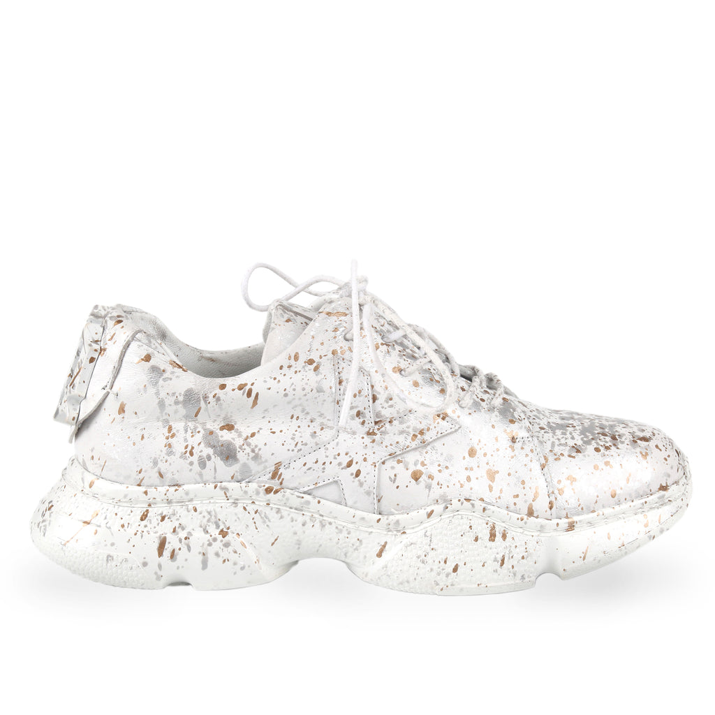 Harlow White- SG4057 Splashed Painted Sneaker