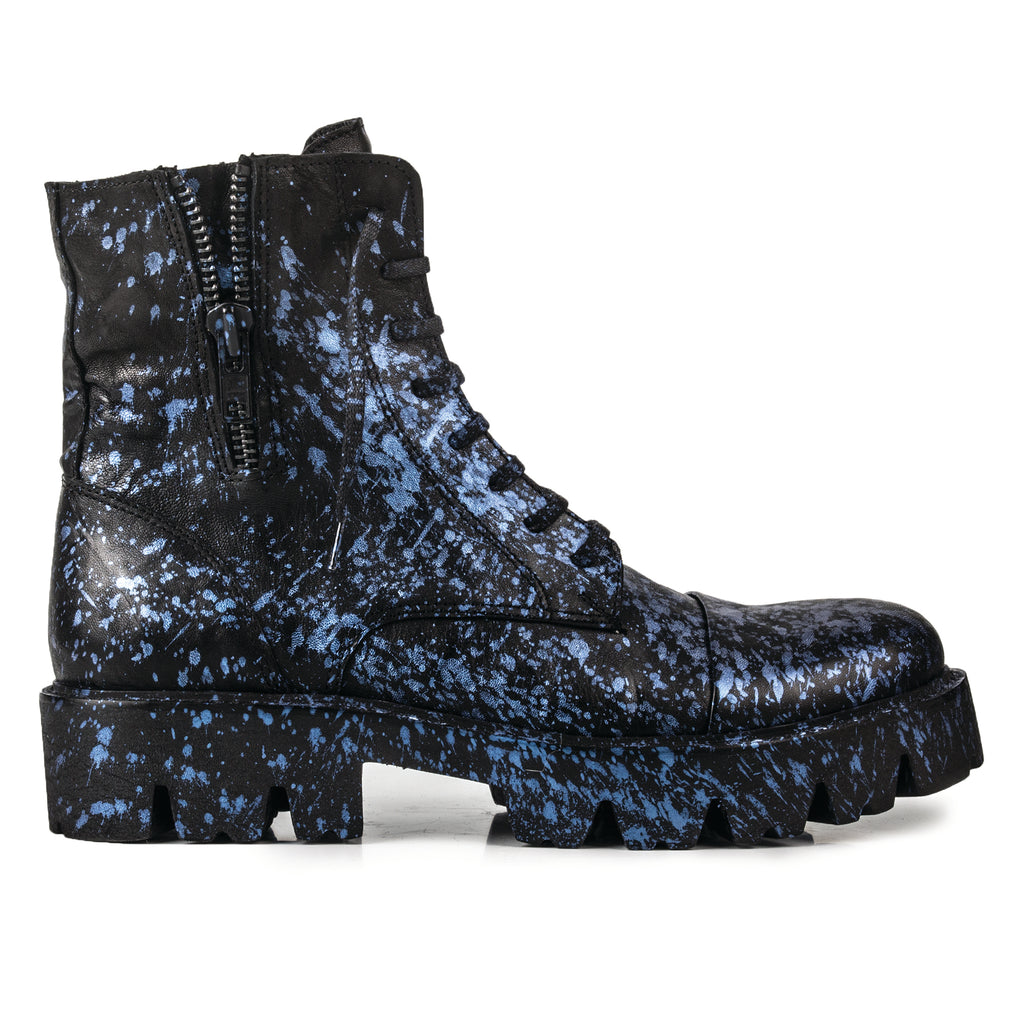 Adox- SG1006 Splash Painted Real Leather Boots-Unisex