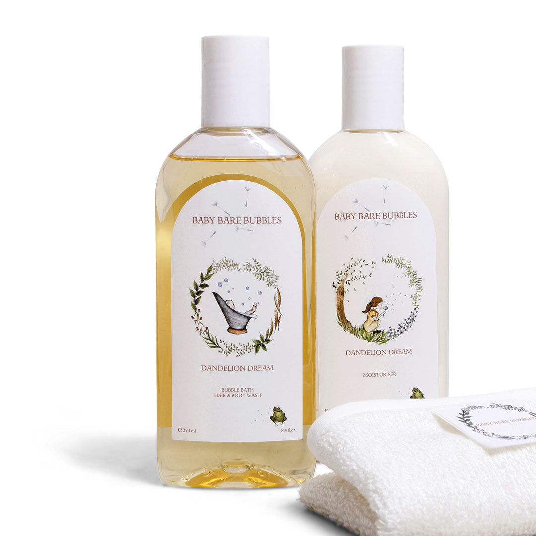 Luxury Shampoo, Moisturiser & Bamboo Washcloth Set