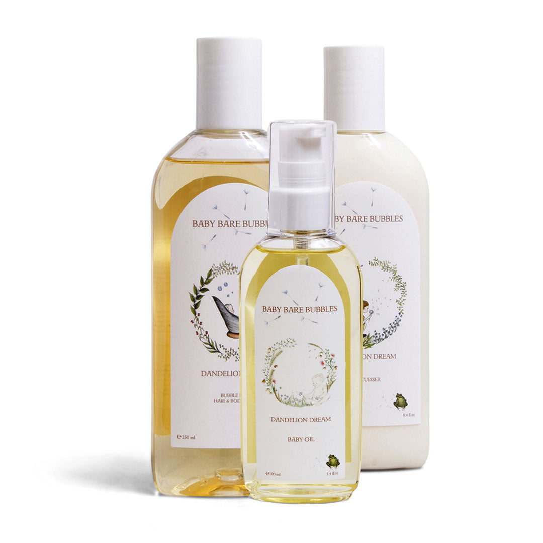 Luxury Shampoo, Body Wash, Bubble Bath, Moisturiser & Baby Oil Set