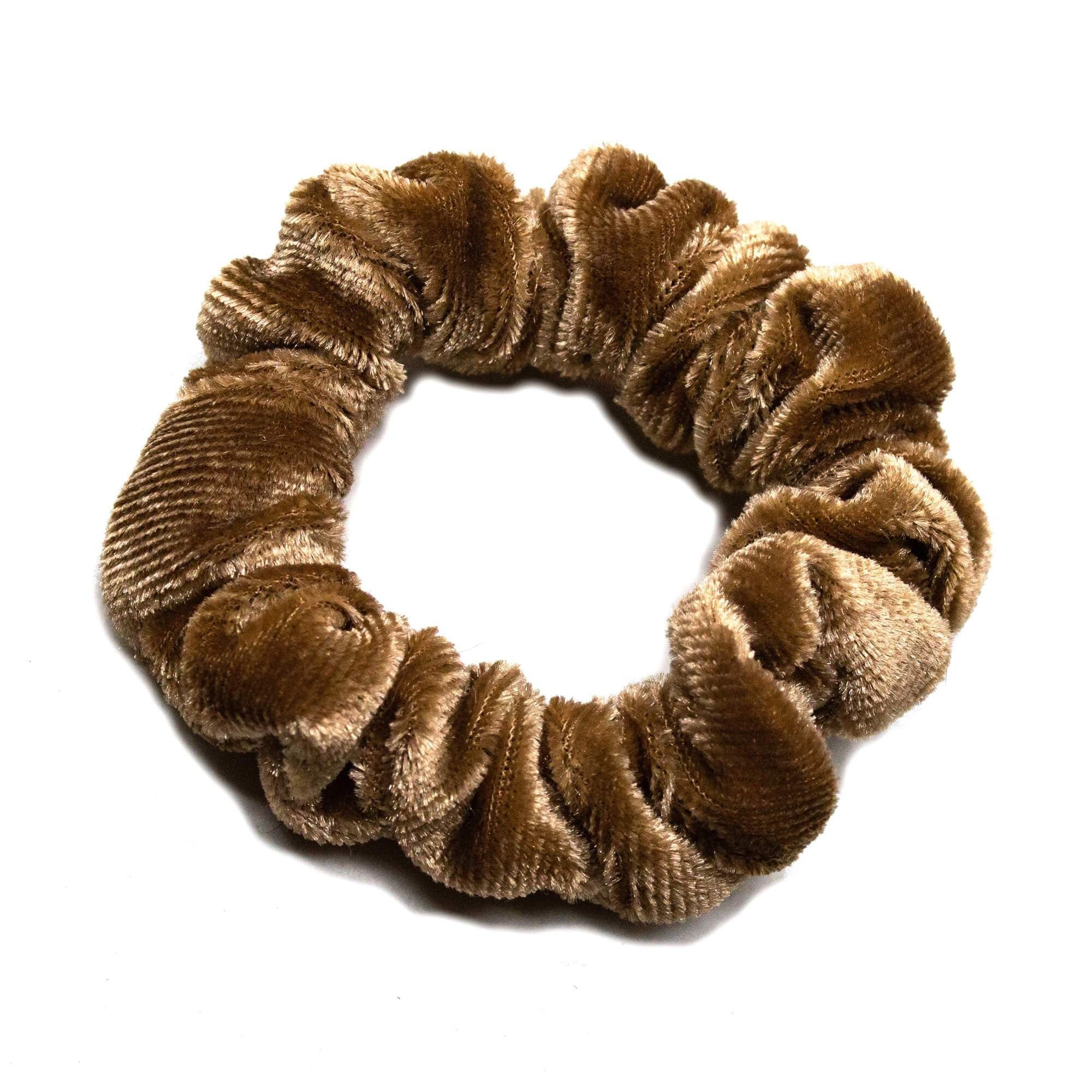Image of   Lille Velour Scrunchie Nougat
