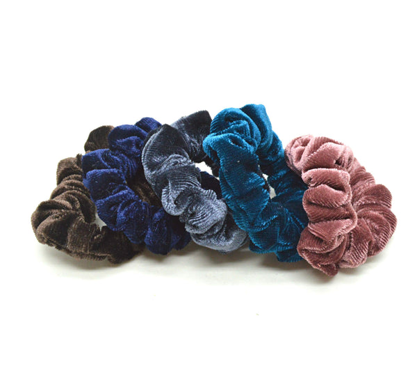Lille Velour Scrunchie Brun