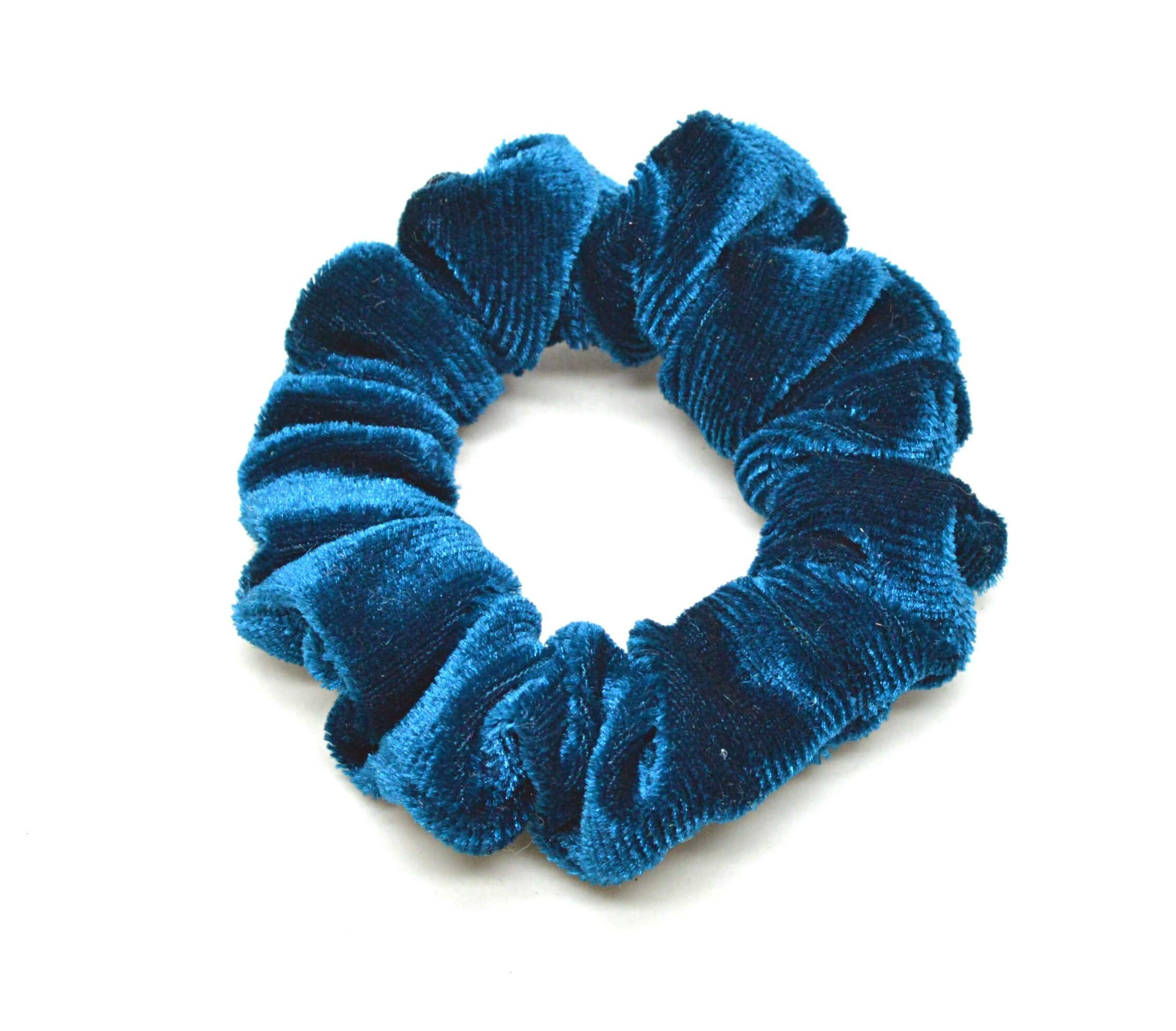 Image of   Lille Velour Scrunchie Teal
