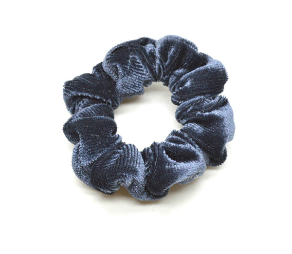 Lille Velour Scrunchie Grå