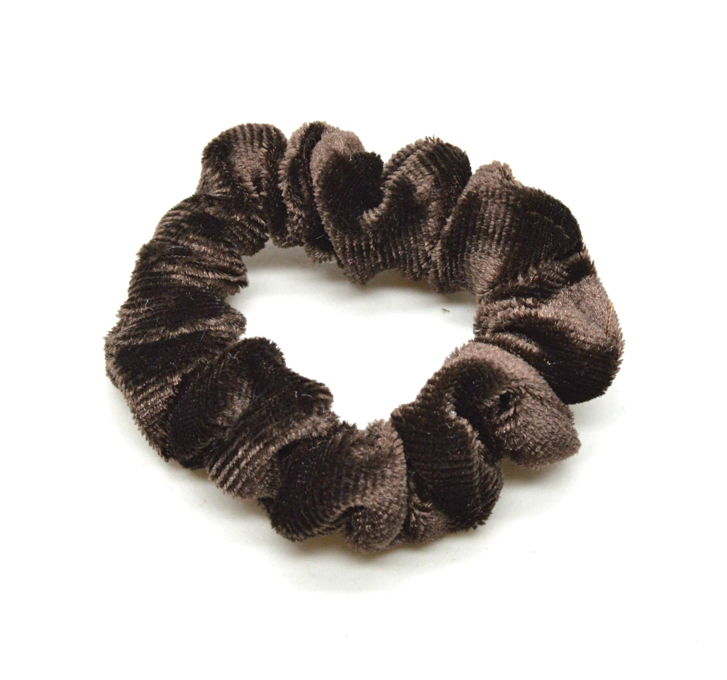 Image of   Lille Velour Scrunchie Brun