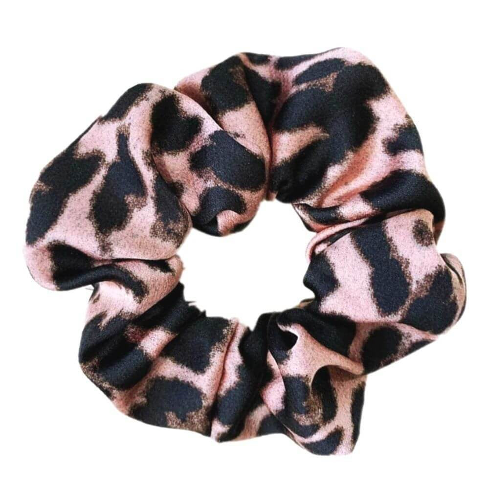 Image of   Penny Leopard Scrunchie Rosa