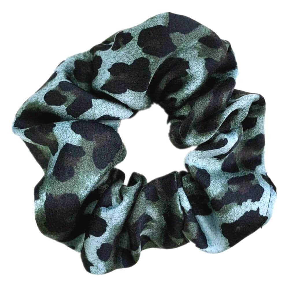 Image of   Penny Leopard Scrunchie Turkis