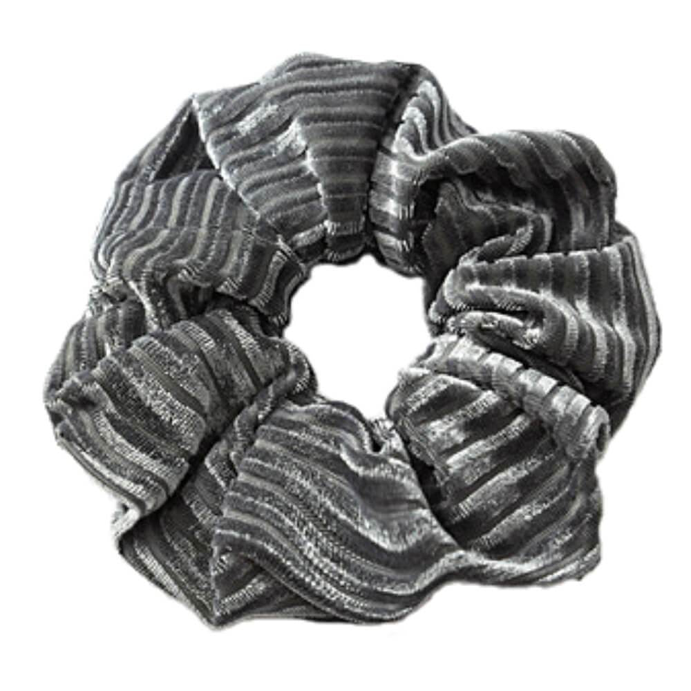 Image of   Dolly Riflet Velour Scrunchie Grå