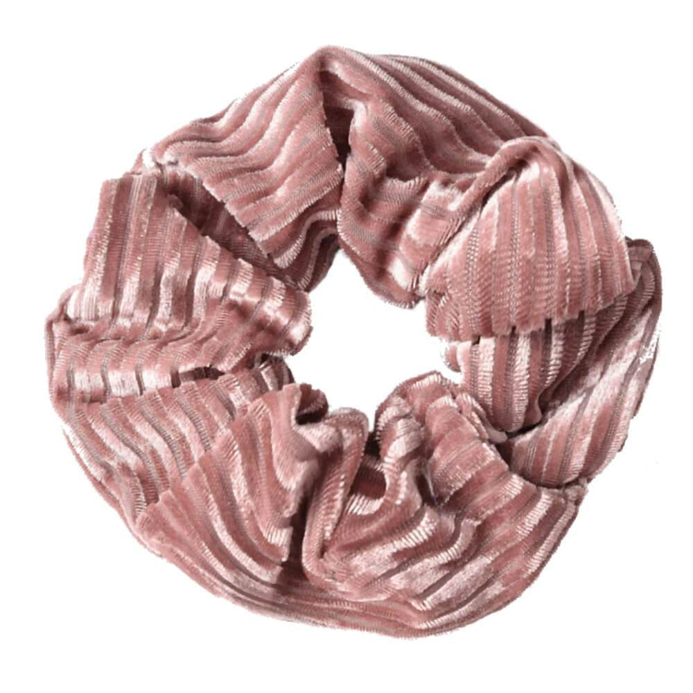 Image of   Dolly Riflet Velour Scrunchie Rosa