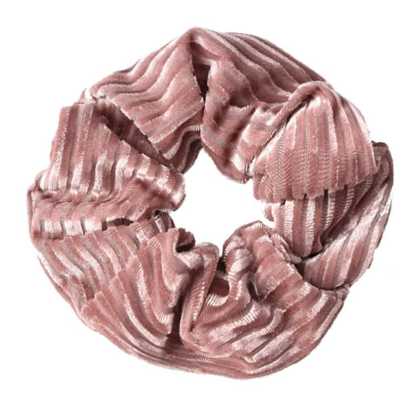 Dolly Riflet Velour Scrunchie Rosa - [product_type] - LEeNu CPH - Senseofstyle.dk