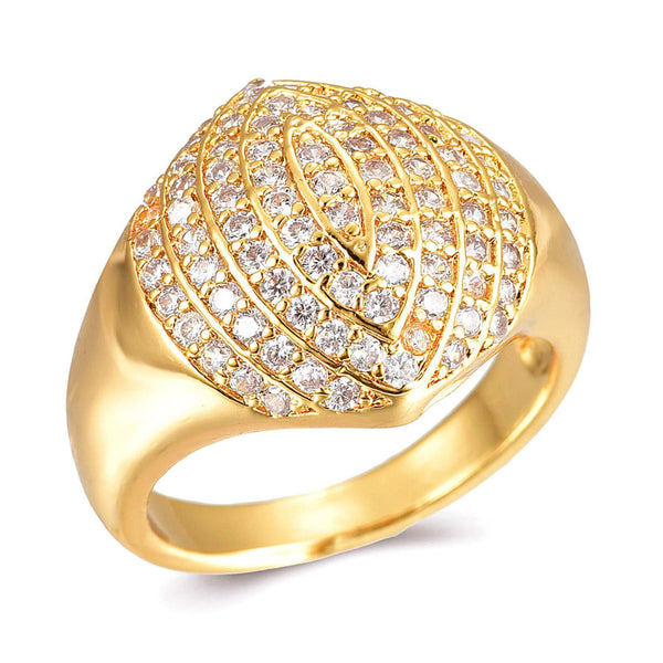 Aura Forgyldt Pavé Ring
