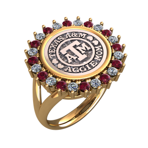 "Wayback ""Aggie Mom"" Coin Ring"