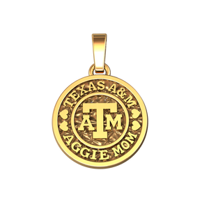 Aggie Mom Coin Pendant 15.5