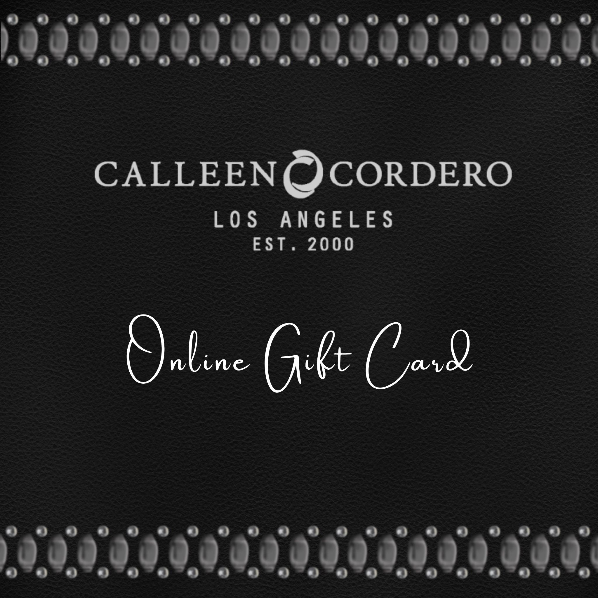 Calleen Cordero Official Site | Los Angeles