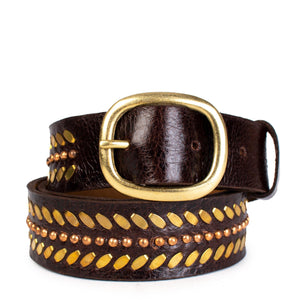 "Moto 1"" Belt - Espresso Rodeo w/Brass and Copper / 32 - Espresso Rodeo w/Brass and Copper / 34 - Espresso Rodeo w/Brass and Copper / 36 - Espresso Rodeo w/Brass and Copper / 38"