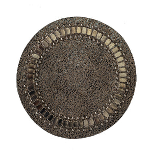 Round Coasters in Silver Sheen Leather - Calleen Cordero Designs