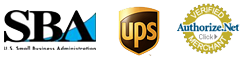 SBA, UPS and Authorize.net logo