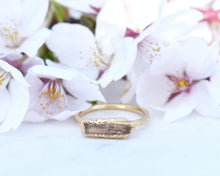 Load image into Gallery viewer, 14k Gold Topaz Bar Ring / November Birthstone / Ready to Ship